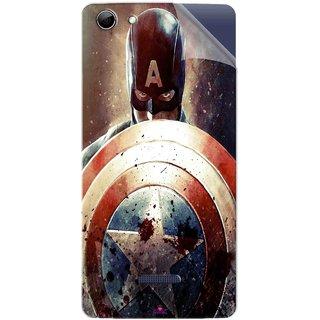 Snooky Printed Captain American Shield Pvc Vinyl Mobile Skin Sticker For Micromax Canvas Selfie 3 Q348