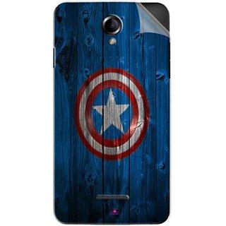 Snooky Printed Captain America Logo Pvc Vinyl Mobile Skin Sticker For Panasonic Eluga L2