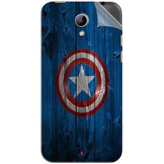 Snooky Printed Captain America Logo Pvc Vinyl Mobile Skin Sticker For Intex Aqua 4g Plus