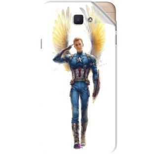 Snooky Printed Captain America wing Pvc Vinyl Mobile Skin Sticker For Samsung Galaxy J7 Prime