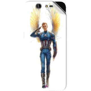 Snooky Printed Captain America wing Pvc Vinyl Mobile Skin Sticker For LYF Earth 2