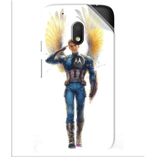 Snooky Printed Captain America wing Pvc Vinyl Mobile Skin Sticker For Motorola Moto G4 Play
