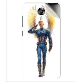 Snooky Printed Captain America wing Pvc Vinyl Mobile Skin Sticker For Micromax Canvas Express 2 E313