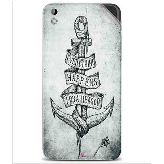 Snooky Printed everything happens for a reason Pvc Vinyl Mobile Skin Sticker For Htc Desire 816
