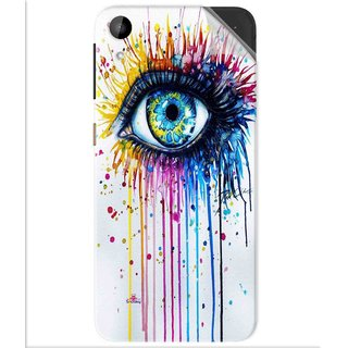 Snooky Printed eye artists Pvc Vinyl Mobile Skin Sticker For Htc Desire 630