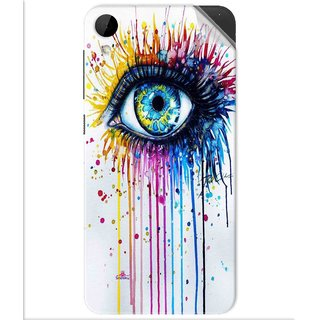 Snooky Printed eye artists Pvc Vinyl Mobile Skin Sticker For Htc Desire 825