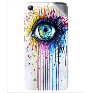Snooky Printed eye artists Pvc Vinyl Mobile Skin Sticker For Tecno i3
