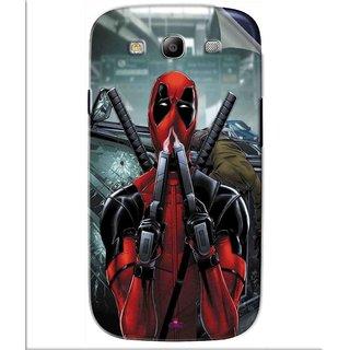 Snooky Printed Deadpool Pvc Vinyl Mobile Skin Sticker For Samsung Galaxy S3