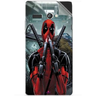 Snooky Printed Deadpool Pvc Vinyl Mobile Skin Sticker For Lava Flair P1
