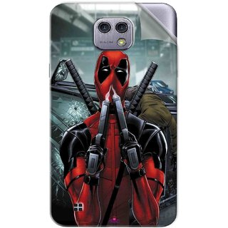 Snooky Printed Deadpool Pvc Vinyl Mobile Skin Sticker For LG X cam