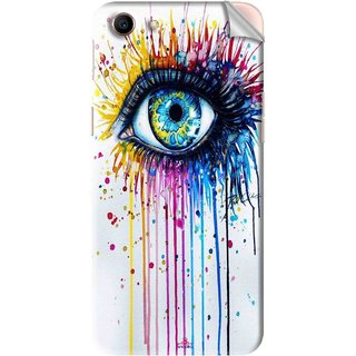 Snooky Printed eye artists Pvc Vinyl Mobile Skin Sticker For Oppo A83