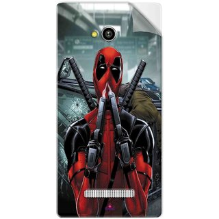 Snooky Printed Deadpool Pvc Vinyl Mobile Skin Sticker For Lava Flair Z1