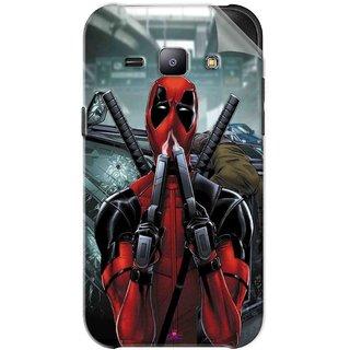 Snooky Printed Deadpool Pvc Vinyl Mobile Skin Sticker For Samsung Galaxy J1