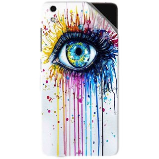 Snooky Printed eye artists Pvc Vinyl Mobile Skin Sticker For LYF Water 5