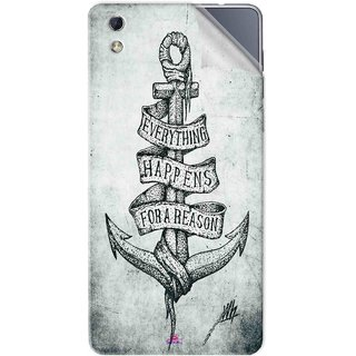 Snooky Printed everything happens for a reason Pvc Vinyl Mobile Skin Sticker For LYF water 1