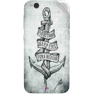 Snooky Printed everything happens for a reason Pvc Vinyl Mobile Skin Sticker For LYF Water 2