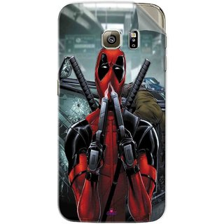 Snooky Printed Deadpool Pvc Vinyl Mobile Skin Sticker For Samsung Galaxy S6 Edge