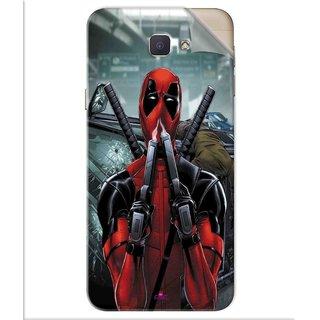 Snooky Printed Deadpool Pvc Vinyl Mobile Skin Sticker For Samsung Galaxy J5 Prime
