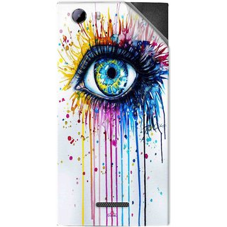 Snooky Printed eye artists Pvc Vinyl Mobile Skin Sticker For Micromax Canvas Play 4G Q469