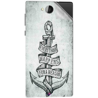 Snooky Printed everything happens for a reason Pvc Vinyl Mobile Skin Sticker For Xolo Prime