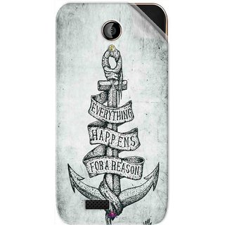 Snooky Printed everything happens for a reason Pvc Vinyl Mobile Skin Sticker For LYF Flame 6
