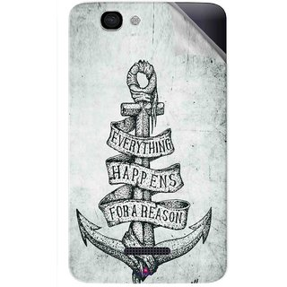 Snooky Printed everything happens for a reason Pvc Vinyl Mobile Skin Sticker For Micromax Canvas 2 A120