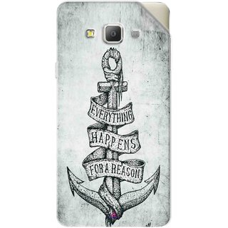 Snooky Printed everything happens for a reason Pvc Vinyl Mobile Skin Sticker For Samsung Galaxy A7