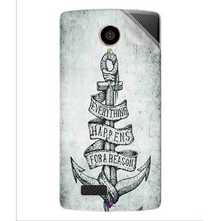 Snooky Printed everything happens for a reason Pvc Vinyl Mobile Skin Sticker For LYF Flame 7