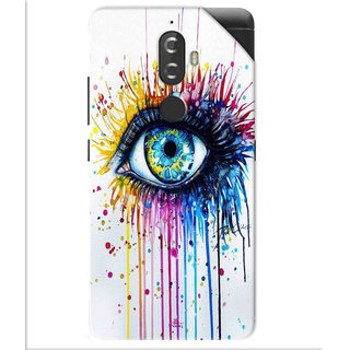 Snooky Printed eye artists Pvc Vinyl Mobile Skin Sticker For Lenovo K8 Plus