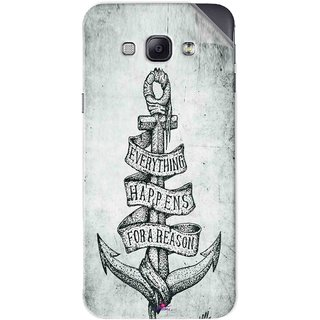 Snooky Printed everything happens for a reason Pvc Vinyl Mobile Skin Sticker For Samsung Galaxy A8