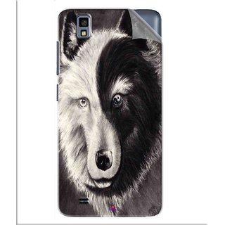 Snooky Printed Fox Yin Yang Pvc Vinyl Mobile Skin Sticker For Gionee Pioneer P2M