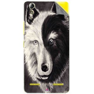 Snooky Printed Fox Yin Yang Pvc Vinyl Mobile Skin Sticker For Lenovo A6000 Plus
