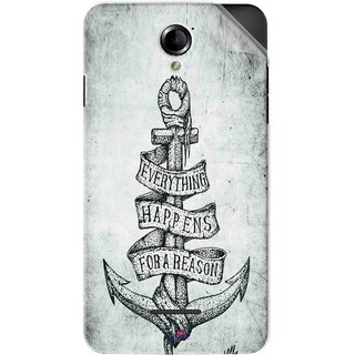 Snooky Printed everything happens for a reason Pvc Vinyl Mobile Skin Sticker For Panasonic Eluga L2