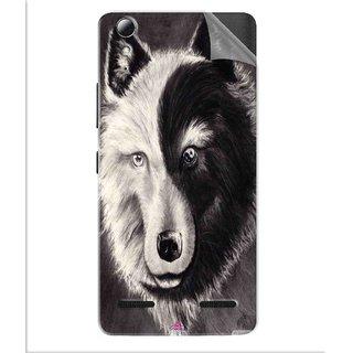 Snooky Printed Fox Yin Yang Pvc Vinyl Mobile Skin Sticker For Lenovo A6010