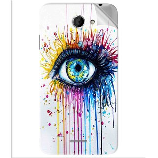 Snooky Printed eye artists Pvc Vinyl Mobile Skin Sticker For Htc Desire 516