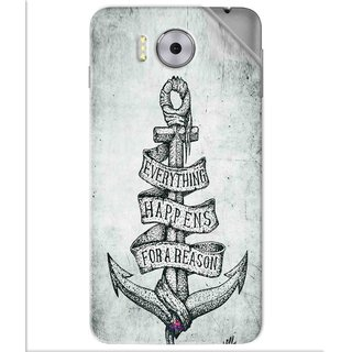 Snooky Printed everything happens for a reason Pvc Vinyl Mobile Skin Sticker For Panasonic Eluga Note
