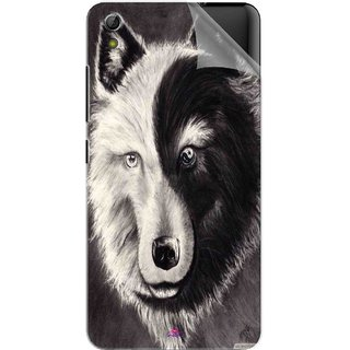 Snooky Printed Fox Yin Yang Pvc Vinyl Mobile Skin Sticker For Gionee Pioneer P6