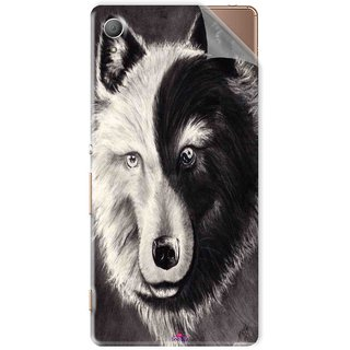 Snooky Printed Fox Yin Yang Pvc Vinyl Mobile Skin Sticker For Sony Xperia Z4