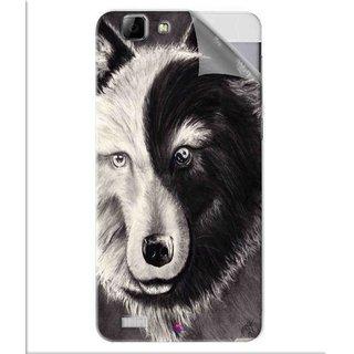 Snooky Printed Fox Yin Yang Pvc Vinyl Mobile Skin Sticker For Vivo V1