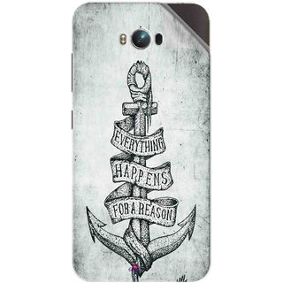 Snooky Printed everything happens for a reason Pvc Vinyl Mobile Skin Sticker For Asus Zenfone Max
