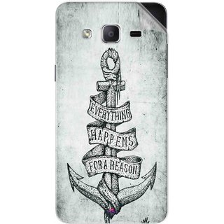 Snooky Printed everything happens for a reason Pvc Vinyl Mobile Skin Sticker For Samsung Galaxy On5 Pro