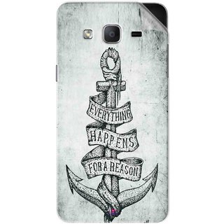 Snooky Printed everything happens for a reason Pvc Vinyl Mobile Skin Sticker For Samsung Galaxy On7 Pro