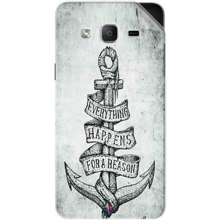 Snooky Printed everything happens for a reason Pvc Vinyl Mobile Skin Sticker For Samsung Galaxy On7