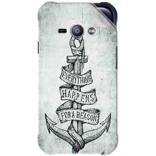 Snooky Printed everything happens for a reason Pvc Vinyl Mobile Skin Sticker For Samsung Galaxy Ace J1