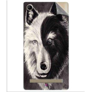 Snooky Printed Fox Yin Yang Pvc Vinyl Mobile Skin Sticker For Intex Aqua Power Plus
