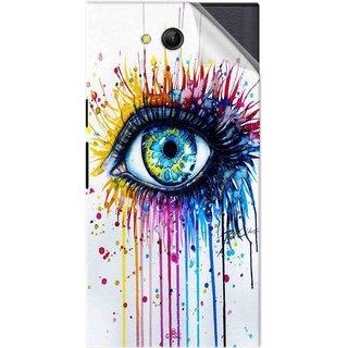 Snooky Printed eye artists Pvc Vinyl Mobile Skin Sticker For LYF Wind 4