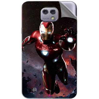 Snooky Printed Flying Iron Man Pvc Vinyl Mobile Skin Sticker For LG X cam