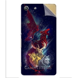Snooky Printed Game of Thrones Pvc Vinyl Mobile Skin Sticker For Sony Xperia M5