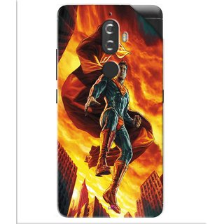 Snooky Printed Flying Super Man Pvc Vinyl Mobile Skin Sticker For Lenovo K8 Plus