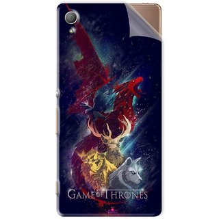 Snooky Printed Game of Thrones Pvc Vinyl Mobile Skin Sticker For Sony Xperia Z4